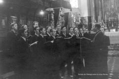 Saint-Maurice, Abbaye 1940-05-12, Messe Radio, Schola directeur chne Revaz