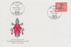 Paul VI à Genève, 10 juin 1969, Enveloppe timbrée
